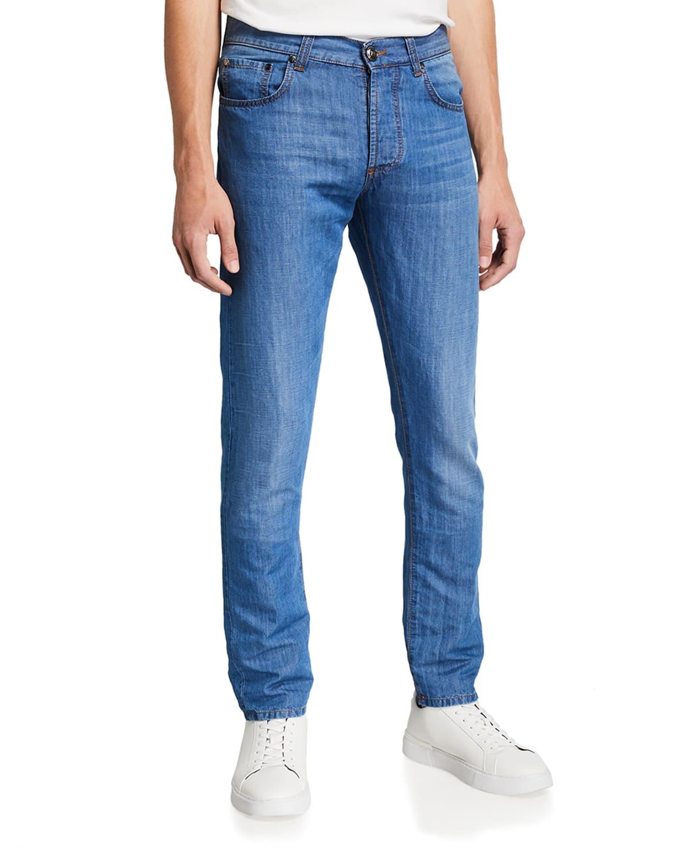 Men's Slim-Leg Denim Jeans