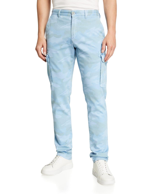 Men's Camo-Print Canvas Cargo Pants