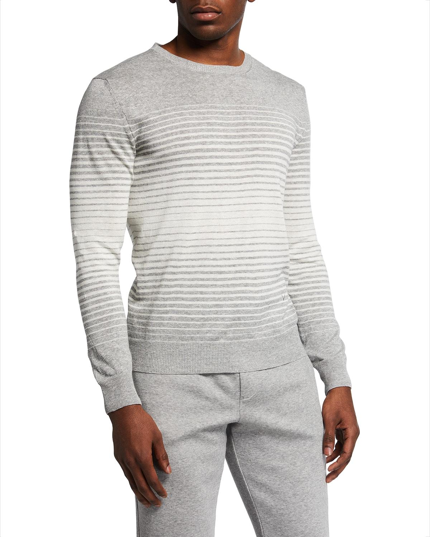 Men's Degrade Striped Crew Sweater