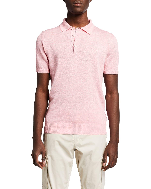 Men's Linen-Cotton Polo Shirt