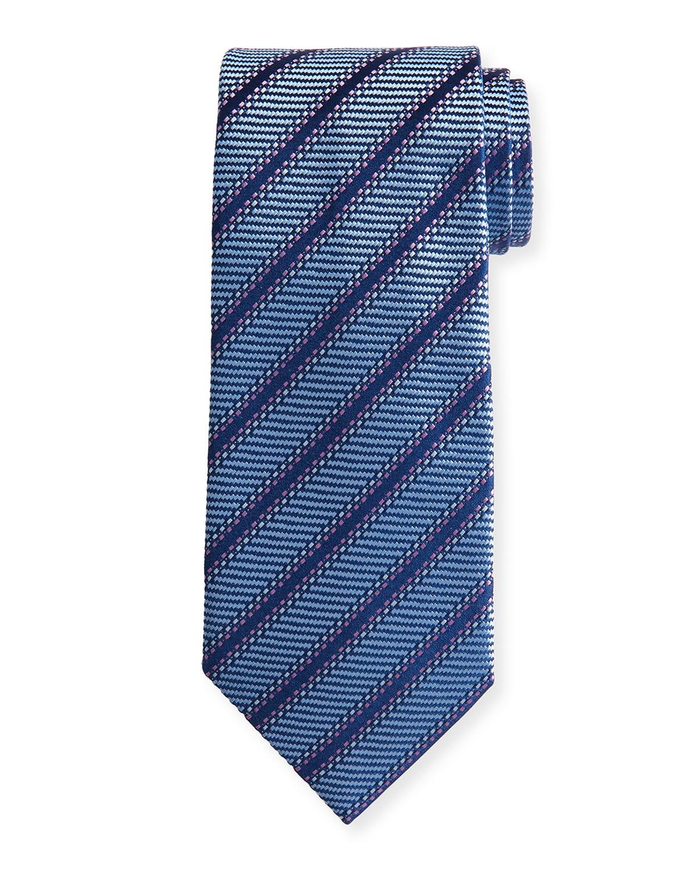 Men's Diagonal-Stripe Silk Tie