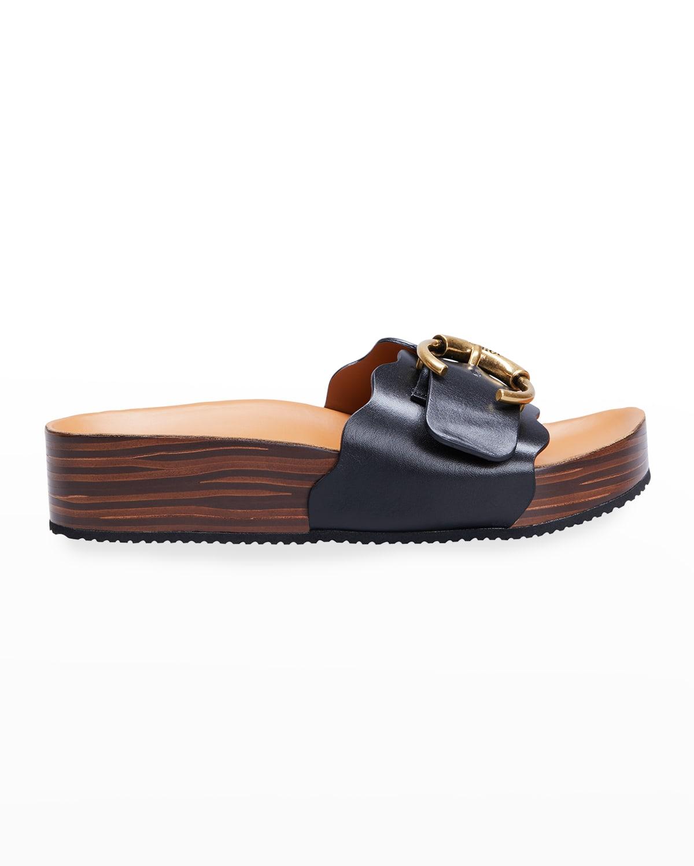 Lauren Buckle Slide Sandals