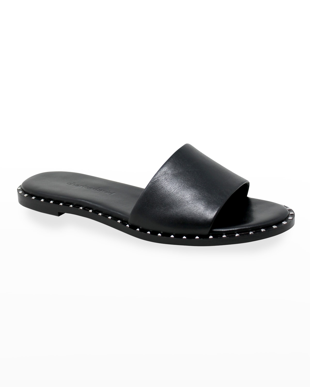 Trunk Metallic Slide Sandals