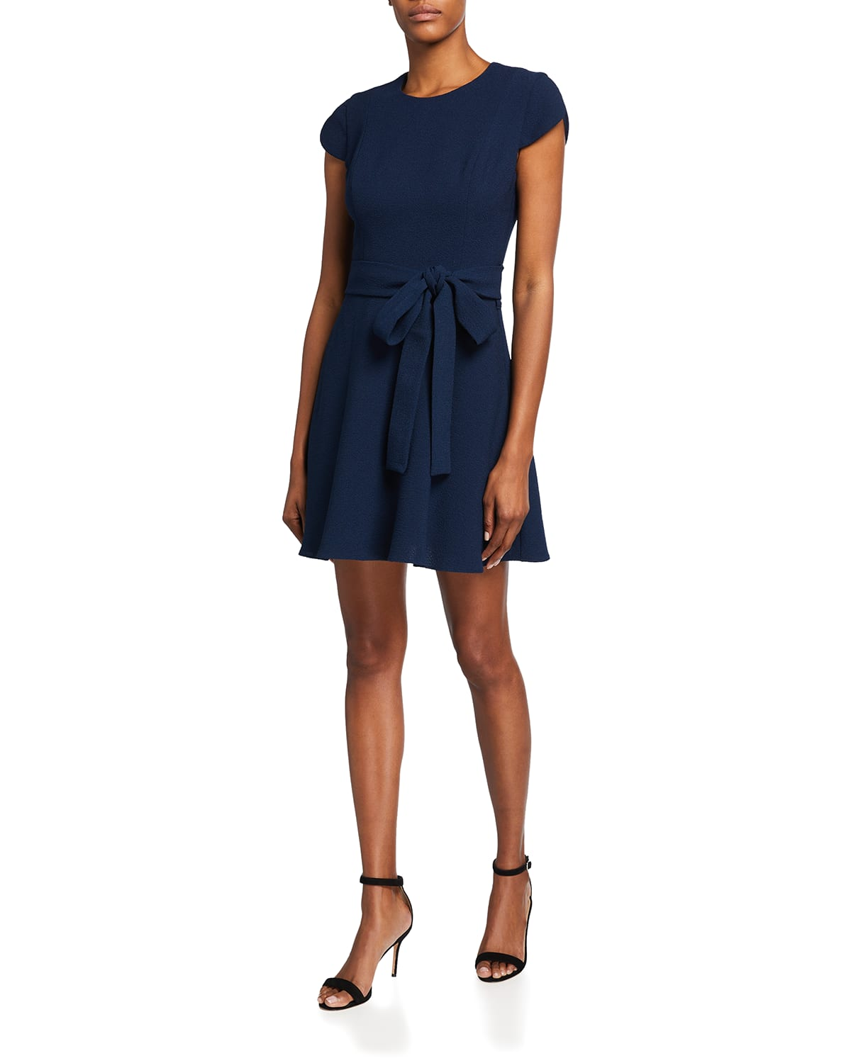 Skylar Fit-and-Flare Belted Mini Dress