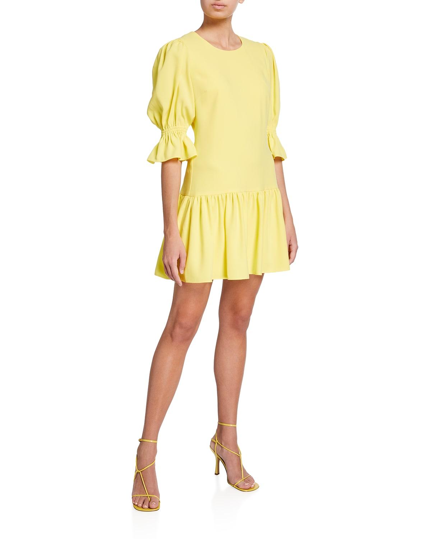 Gabby Flounce Mini Dress