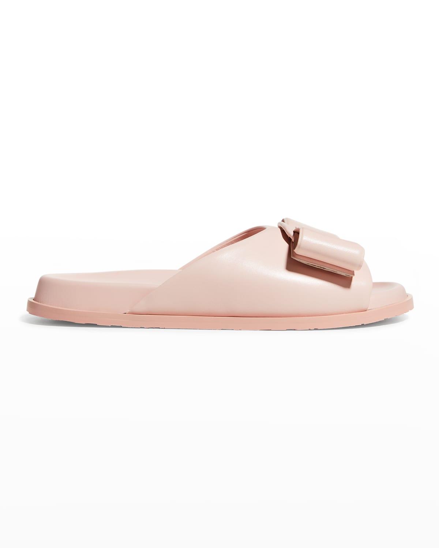 Virgil Bow Flat Slide Sandals