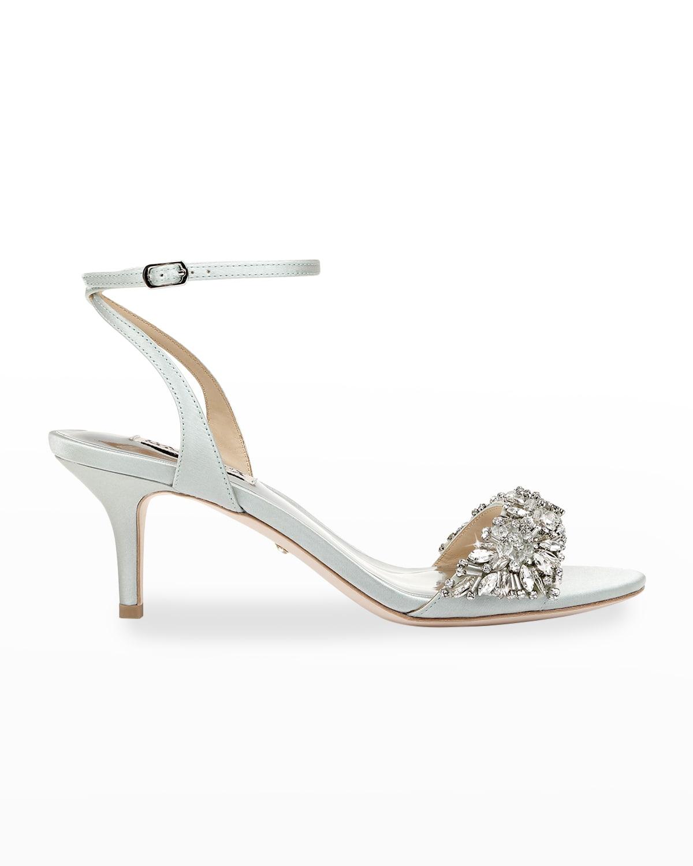 Richelle Crystal Satin Stiletto Sandals