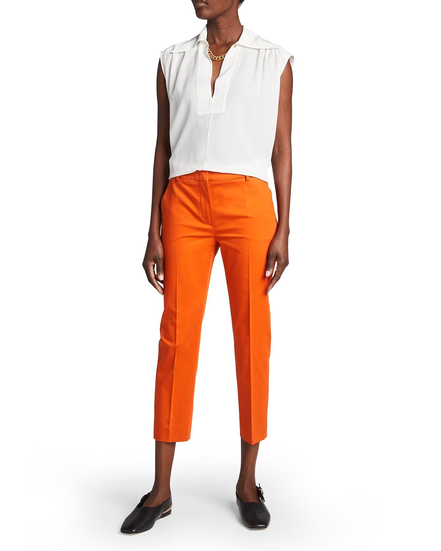 Calcut Solid Straight-Leg Pants