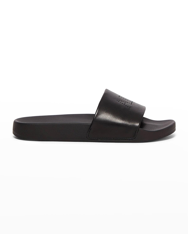 Karli Leather Logo Slide Sandals