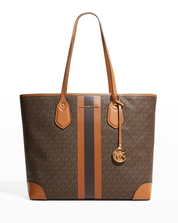 Eva Large Monogram Shopper Tote Bag