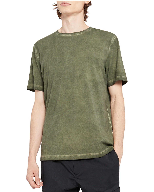 Men's Precise Solid Cotton Short-Sleeve Shirt