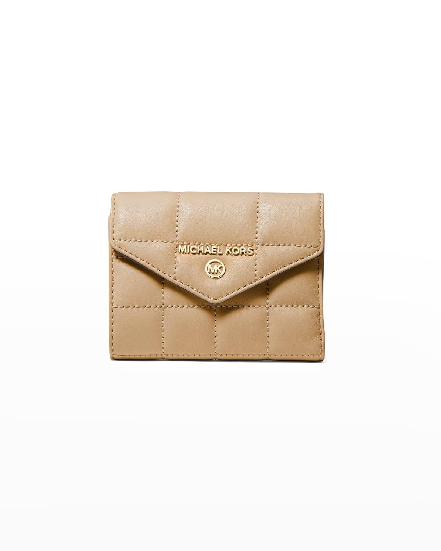 Jet Set Quilted Envelope Trifold Wallet