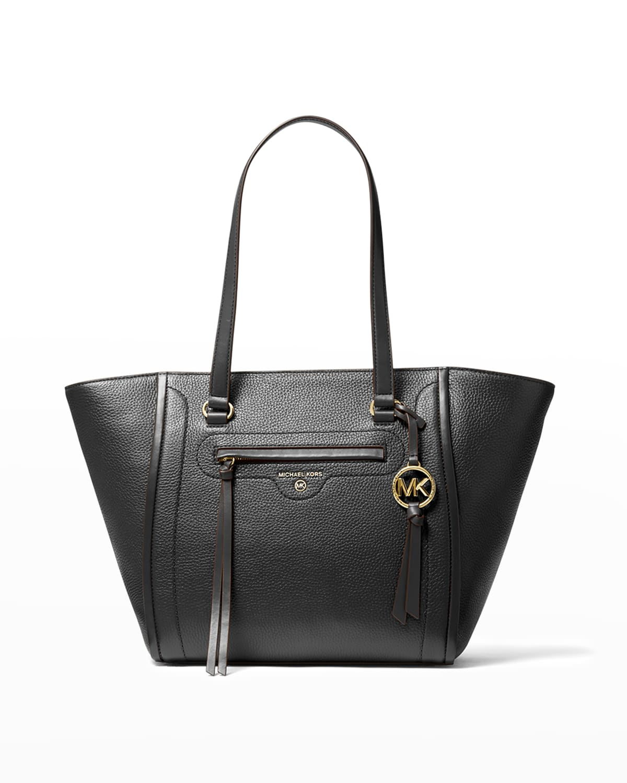 Carine Medium Leather Tote Bag