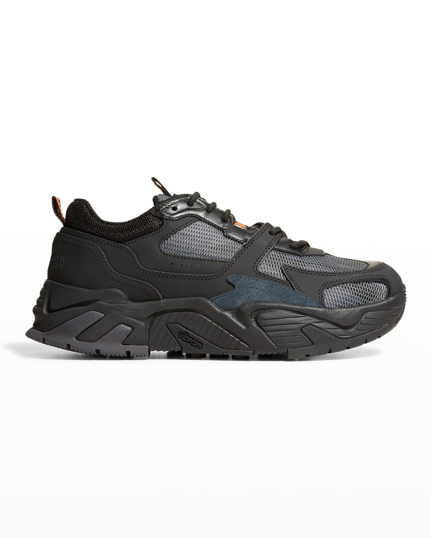 Men's C-Run 3000 Leather %26 Mesh Chunky Sneakers