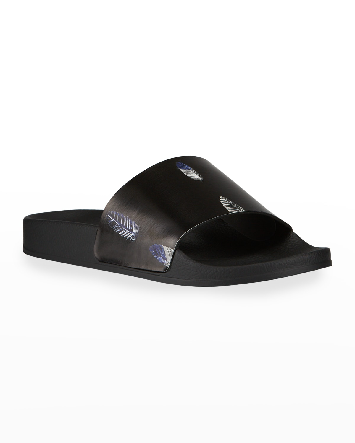 Men's County Feather-Print Pool Slide Sandals