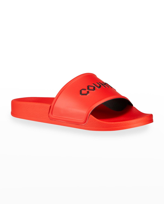 Men's County Typographic Pool Slide Sandals