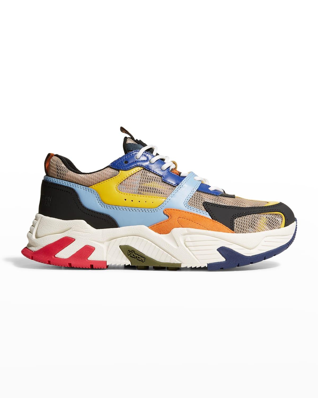 Men's C-Run 3000 Multicolored Mesh Chunky Sneakers