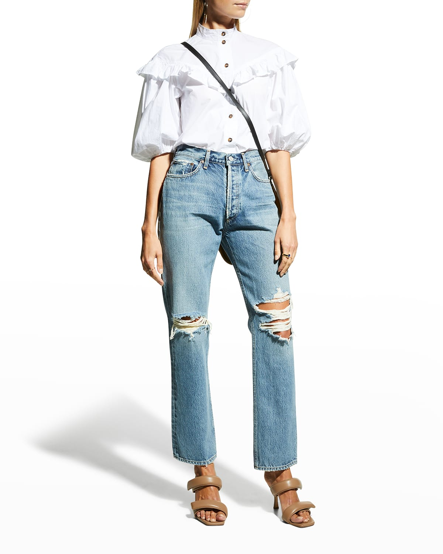 Lana Mid-Rise Straight-Leg Jeans