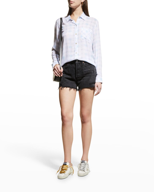 Parker Frayed Denim Shorts