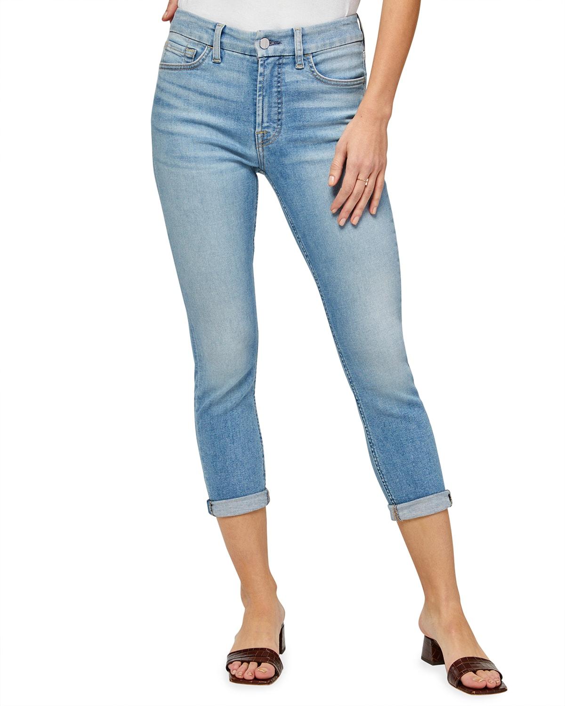 High-Rise Slim Boyfriend Jeans