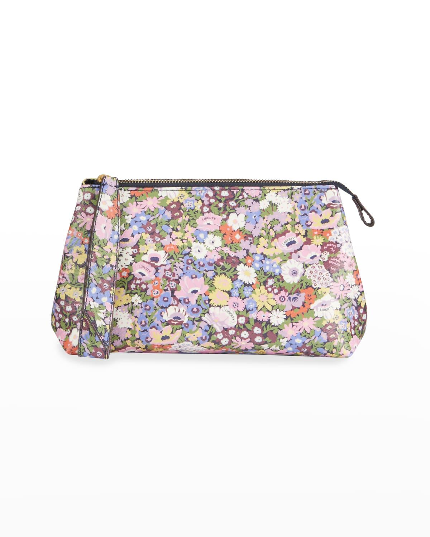 Thorpeness Floral-Print Zip Clutch Bag