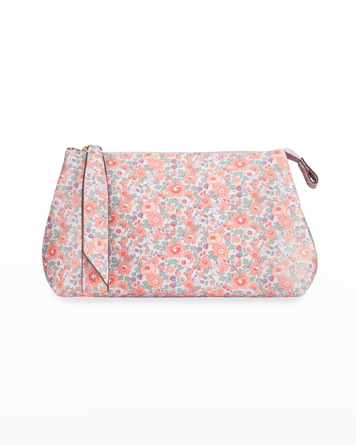 Small Betsy Floral-Print Zip Clutch Bag