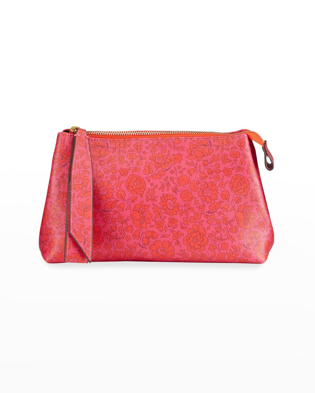 Danjo Floral-Print Zip Clutch Bag