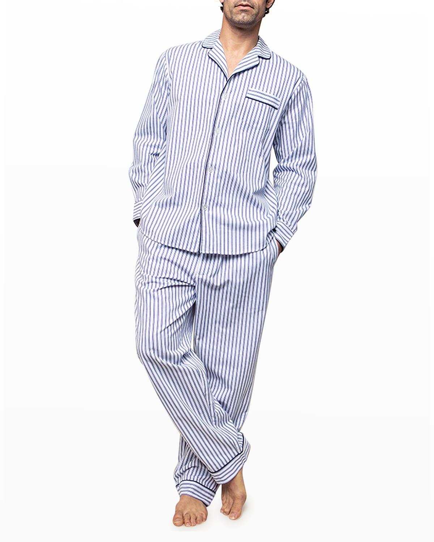 Men's French Ticking Twill Pajama Set