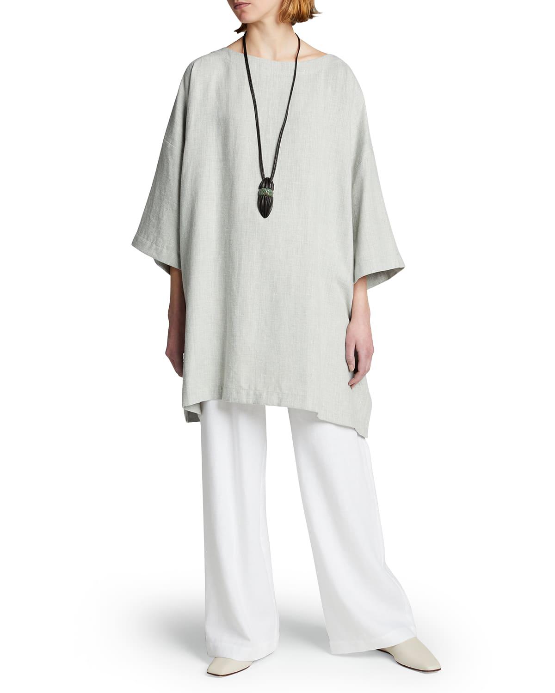 Tunic Linen-Blend Top