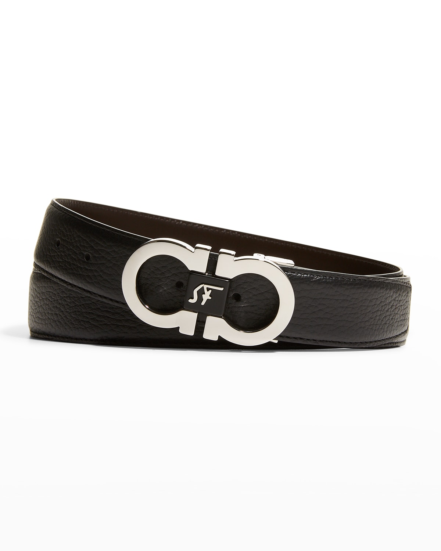 Men's Gancini Leather Belt