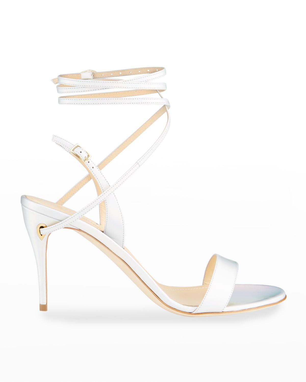Tommaso 85mm Napa Stiletto Ankle-Wrap Sandals