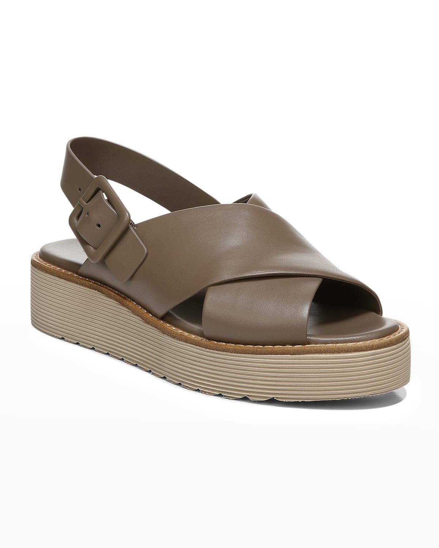 Zena Crisscross Slingback Platform Sandals