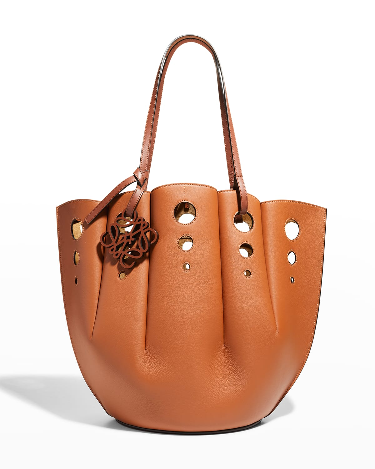 Shell Perforated Calfskin Tote Bag