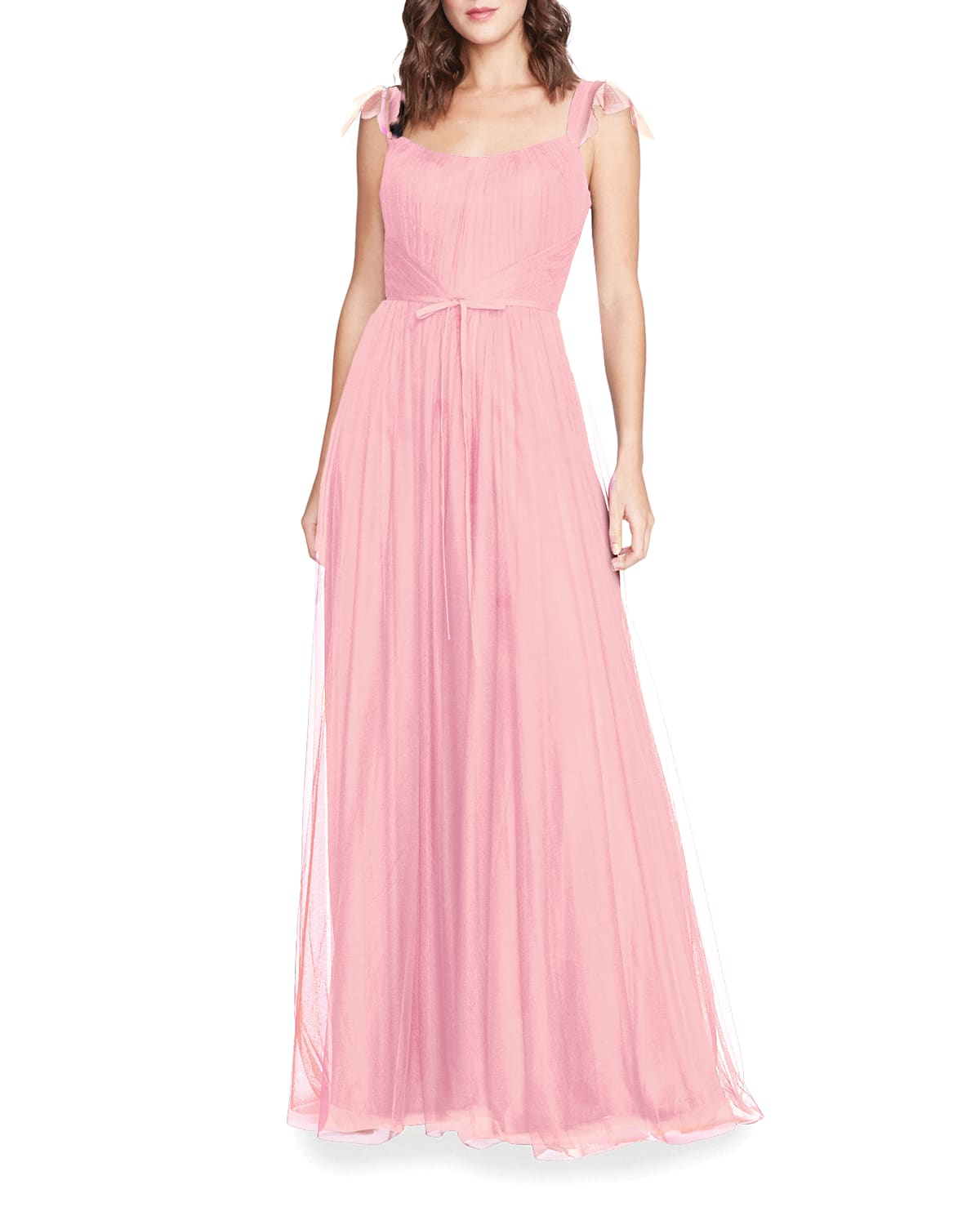 Sleeveless Tulle A-Line Gown