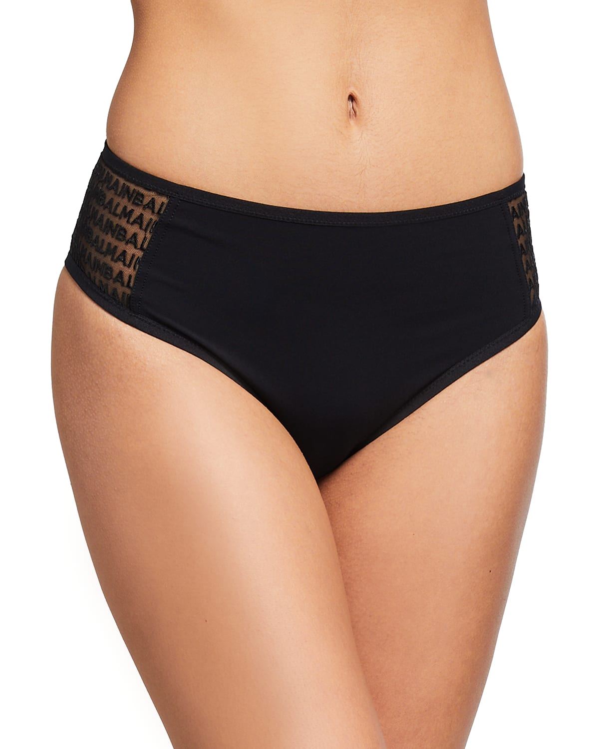 Logo Embroidered Tulle Sides Brief