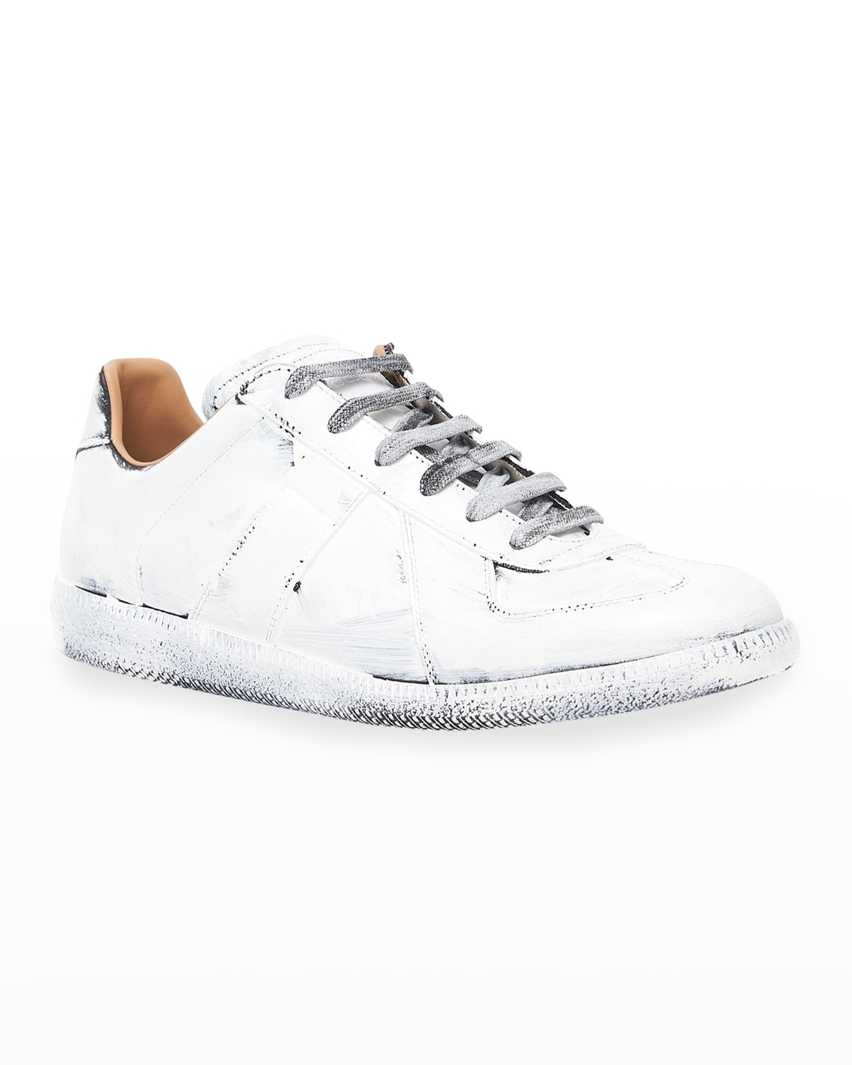 Men's Replica Bianchetto Hand-Painted Sneakers