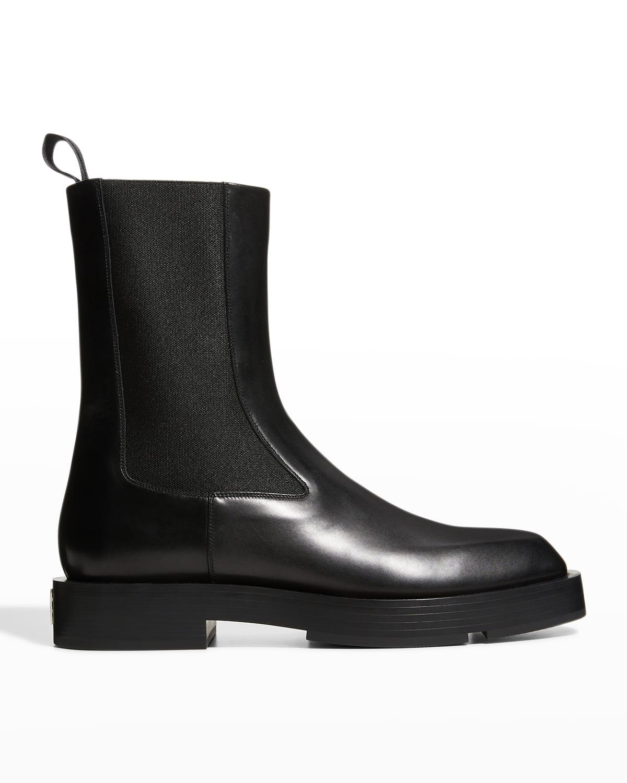 Men's Patent Leather Chelsea Boots