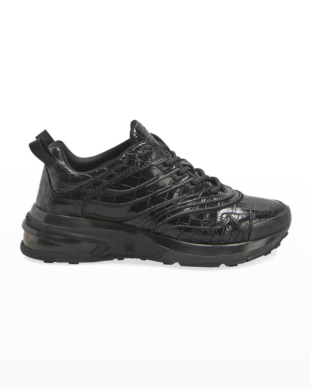 Men's Tonal Moc-Croc Chunky Sneakers