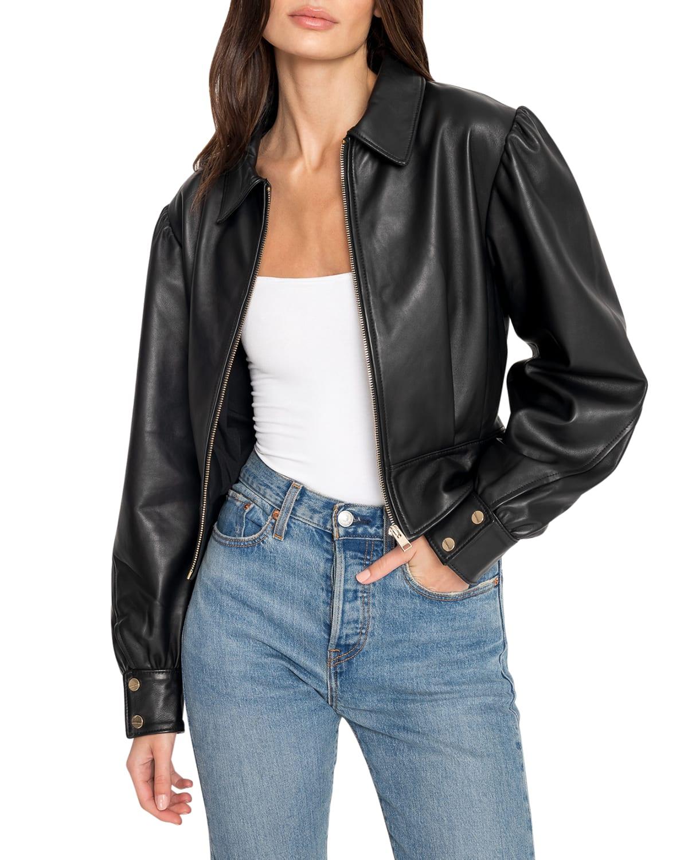 Karry Oversized Leather Jacket