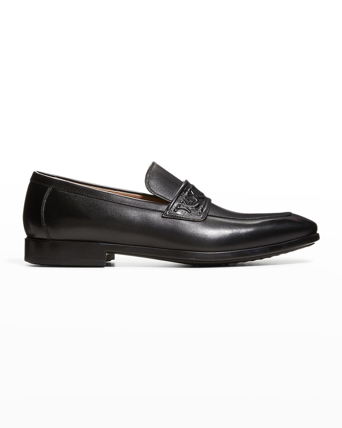 Men's Naxos Leather Loafers with Gancini Embossing