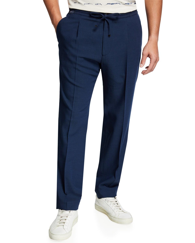 Men's Technical Wool Drawstring Trousers