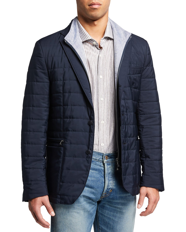 Men's Quilted Milestone Sport Jacket with Bib