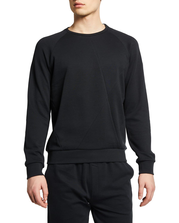 Men's Paneled Raglan Crew Sweater