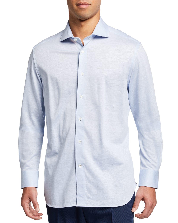 Men's Melange Sport Shirt