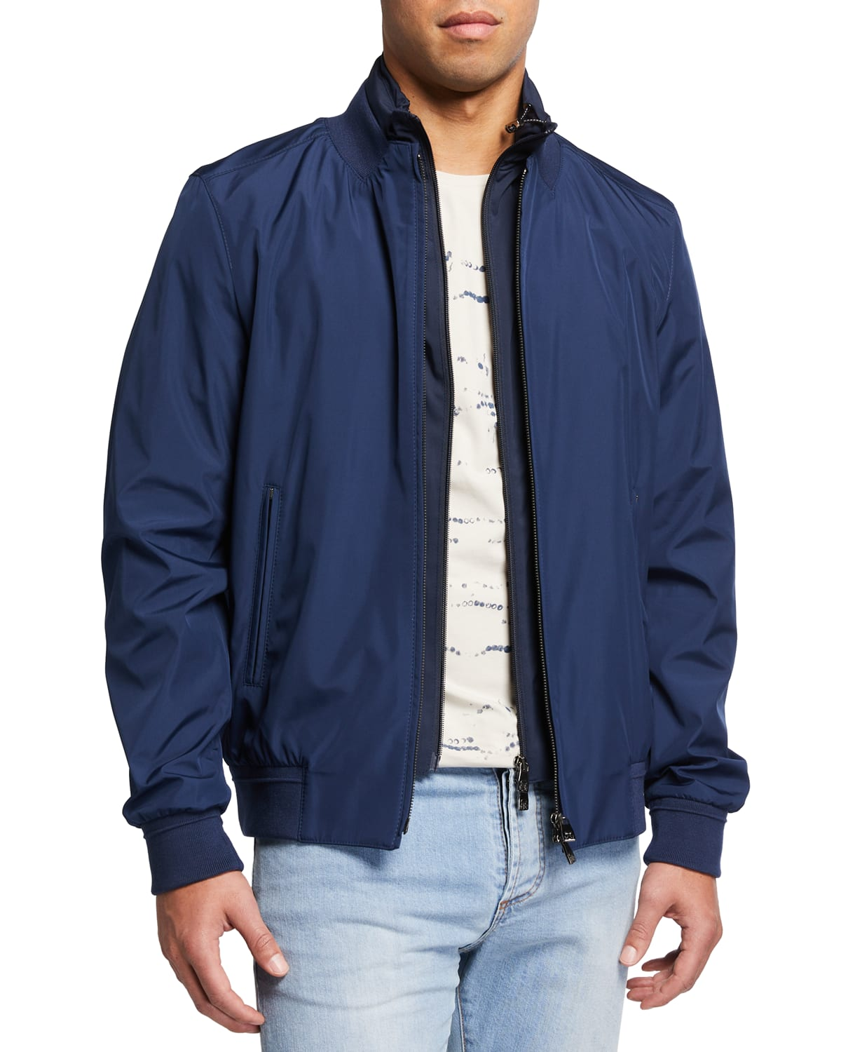 Men's Bomber Jacket with Removable Bib