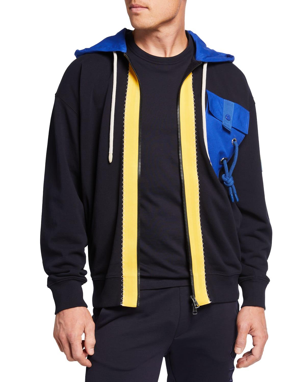 1 Moncler JW Anderson Tricolor Zip Hoodie