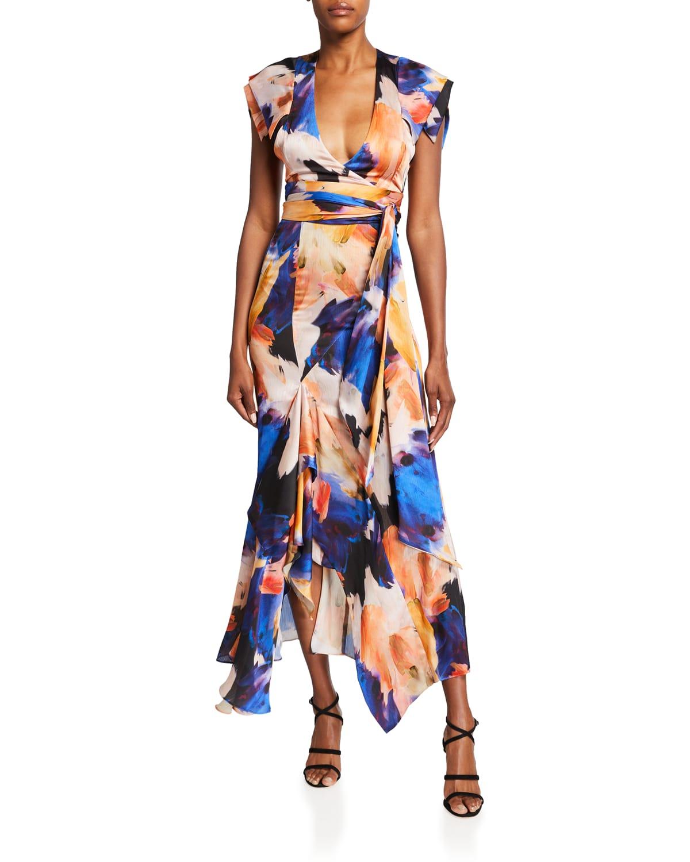 Euphoria Godet Midi Gown