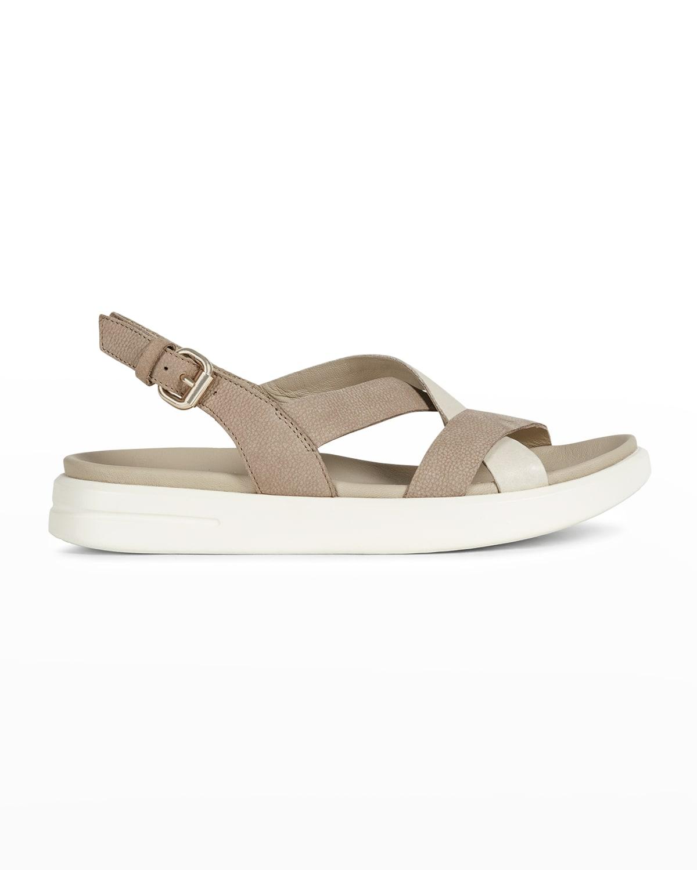 Bicolor Slingback Sporty Sandals