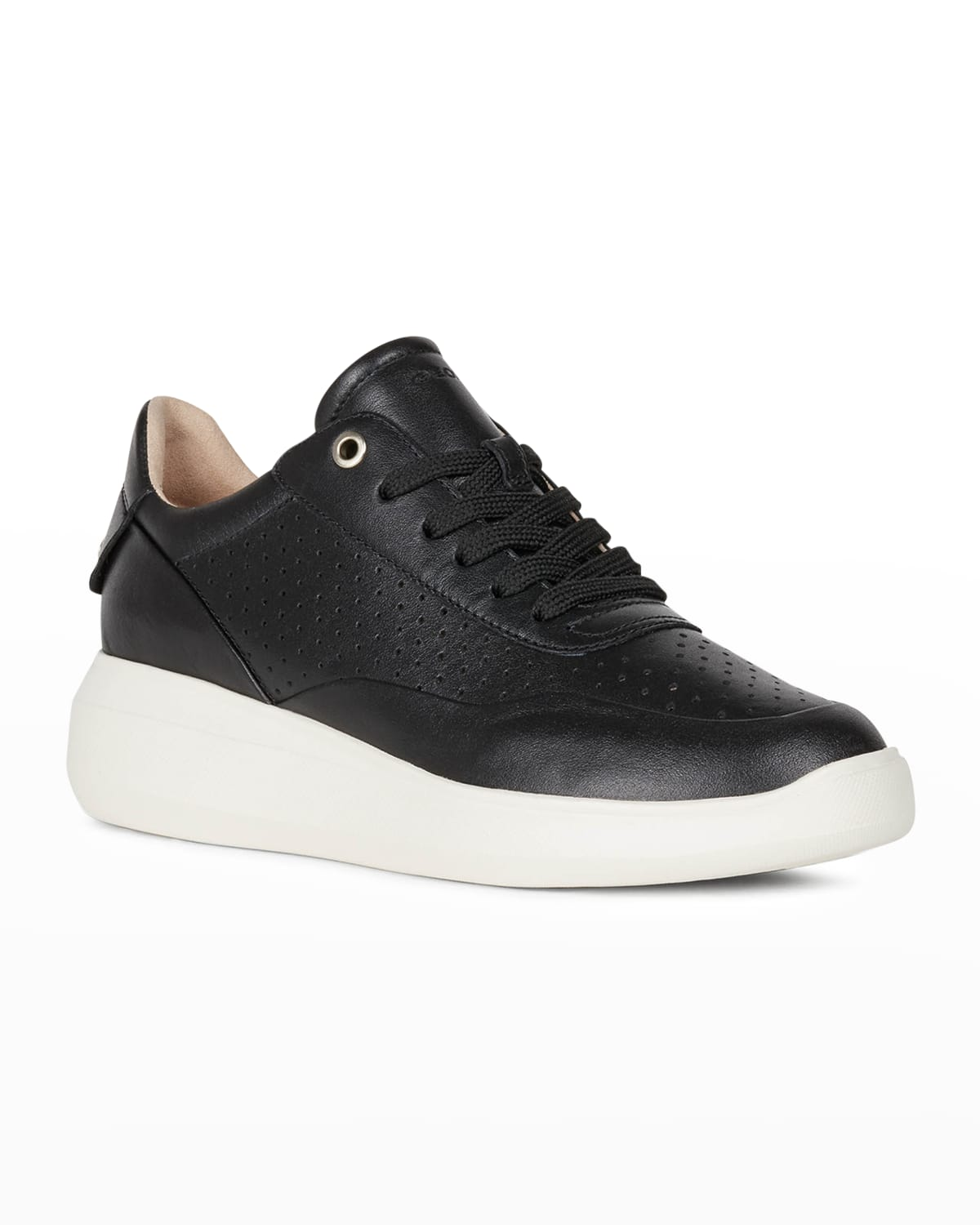 Rubidia Perforated Leather Low-Top Sneakers