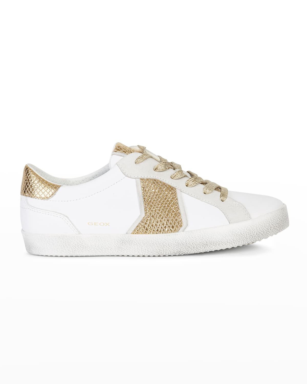 Warley Mixed Leather Low-Top Sneakers
